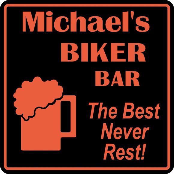 Personalized Custom Name Motorcycle Biker Bike Best Never Rest Bar Gift Sign #4