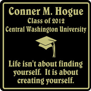 PERSONALIZED GRADUATION GIFT SCHOOL HS COLLEGE SIGN  #3