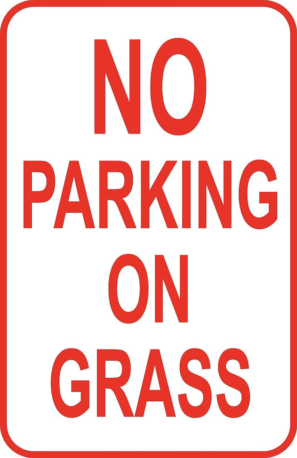 No Parking on Grass Sign 12