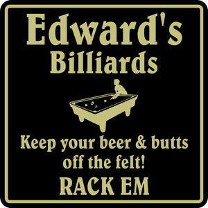 New Personalized Custom Name Pool Room Billiards Bar Beer Pub Gift Sign #2