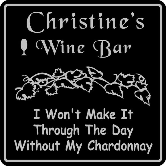Personalized Custom Name Wine Room Tasting Bar Pub Wall Family Gift Sign #9