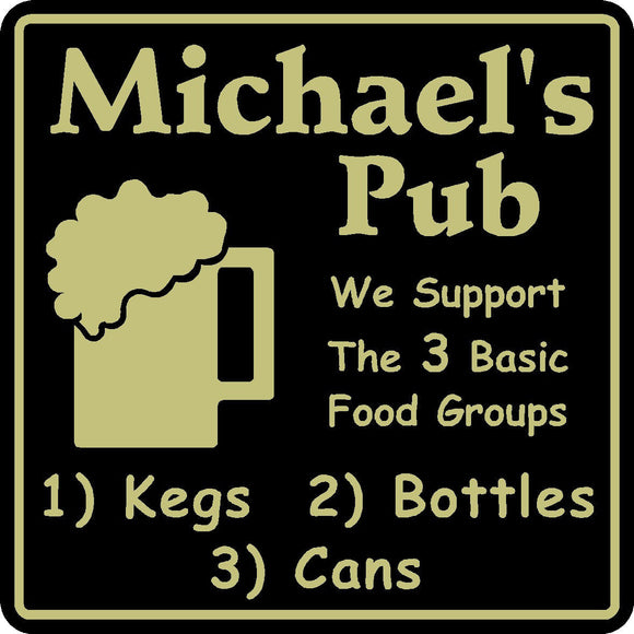 New Personalized Custom Name We Support Kegs Bottles Bar Beer Pub Gift Sign #7