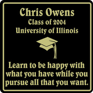 PERSONALIZED GRADUATION GIFT SCHOOL HS COLLEGE SIGN  #4