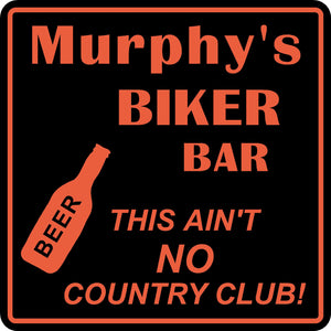 Personalized Custom Name Motorcycle Biker Bike No Country Club Bar Gift Sign #1