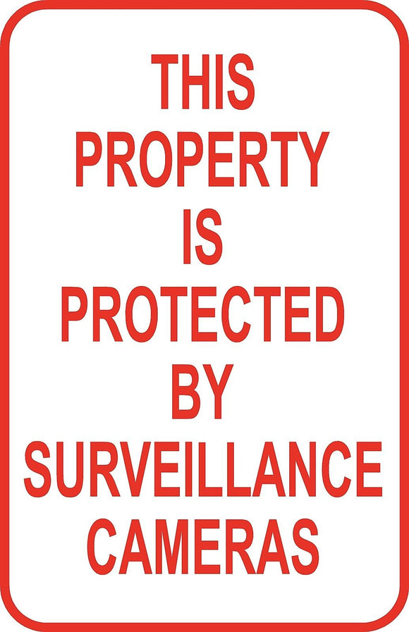 Property Protected Surveillance Camera Sign 12