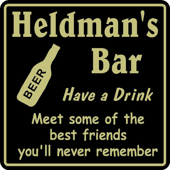 New Personalized Custom Name Meet Best Friends Bar Beer Pub Gift Sign #18