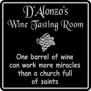 Personalized Name Wine Room Sign Tasting Bar Pub Wall Family Gift  #6
