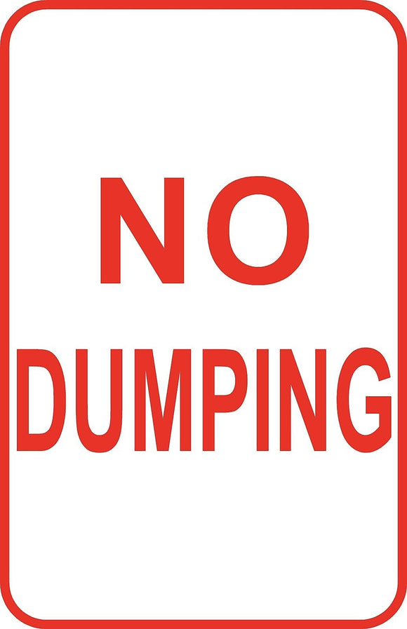 No Dumping Dumpster Sign 12