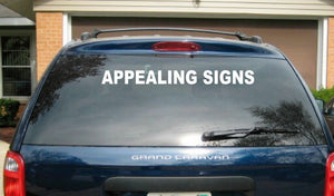 (1)  1 Line Truck Car Vehicle Lettering Vinyl Decal Custom Business Back Window