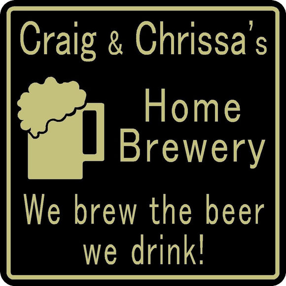 New Personalized Custom Name Home Brewery Bar Craft Beer Pub Gift Sign #36