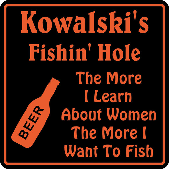 New Personalized  Name Fishing Sign Bar Beer Tavern Pub Gift Fish Wall #5