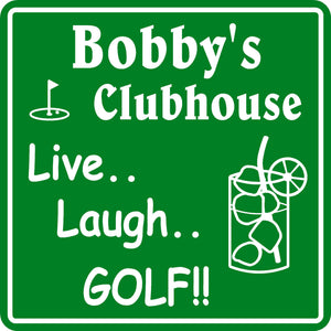 New Personalized Custom Name Golf Golfing Golfer Clubhouse Gift Bar Sign #4