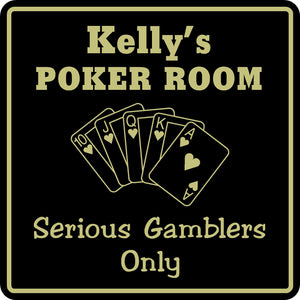 New Personalized Custom Name Poker Game Room Bar Beer Cards Holdem Gift Sign #4