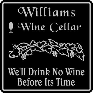 Personalized Custom Name Wine Room Tasting Bar Pub Wall Family Gift Sign #1