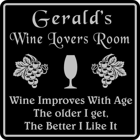 Personalized Custom Name Wine Room Tasting Bar Pub Wall Family Gift Sign #3
