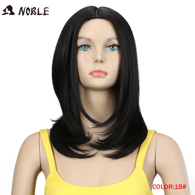 Noble-Synthetic-Lace-Wigs-For-Black-Women-12-Inch-Straight-Kanekalon-Hair-Ombre