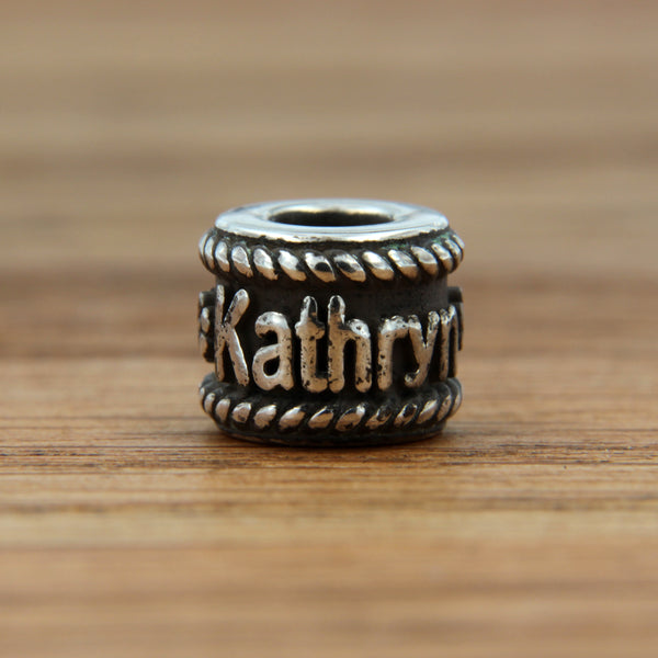 Custom Sterling Silver Name Bead