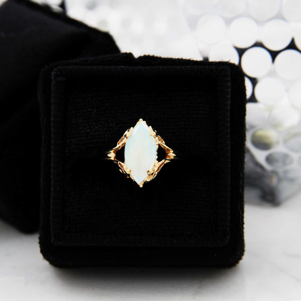 Opal Marquise-Cut Gold Ring