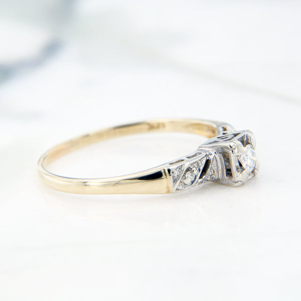 milgrain detail engagement ring diamond