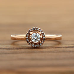 rose gold diamond engagement ring diamond halo
