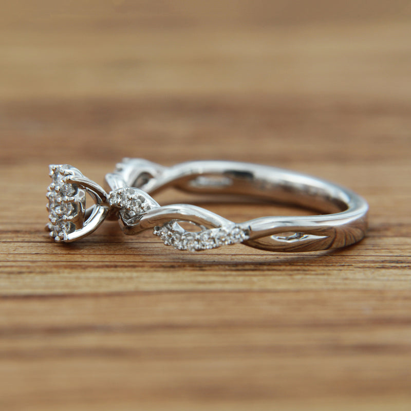 14KW .375 CTTW infinity band bridal set