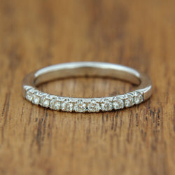 white gold diamond ring quarter total carat weight wedding band