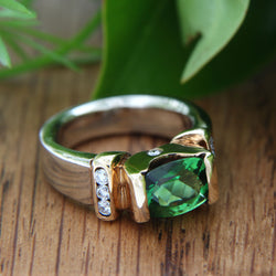 Chrome Tourmaline Ring