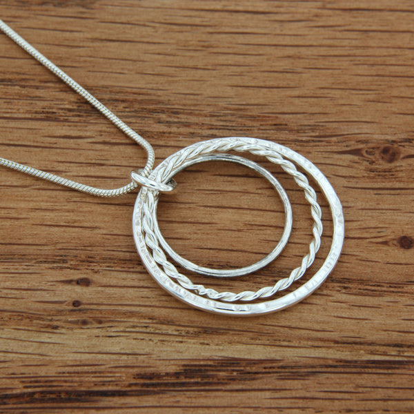 Three Circles Sterling Silver Pendant