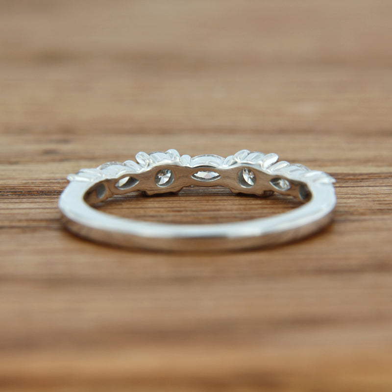 14K Custom Diamond Ring Band Hierloom Jewelry back view