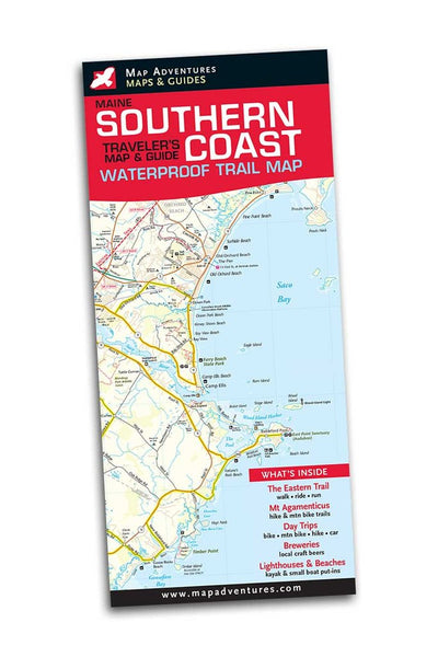 Maine Southern Coast Waterproof Traveler's Map & Guide