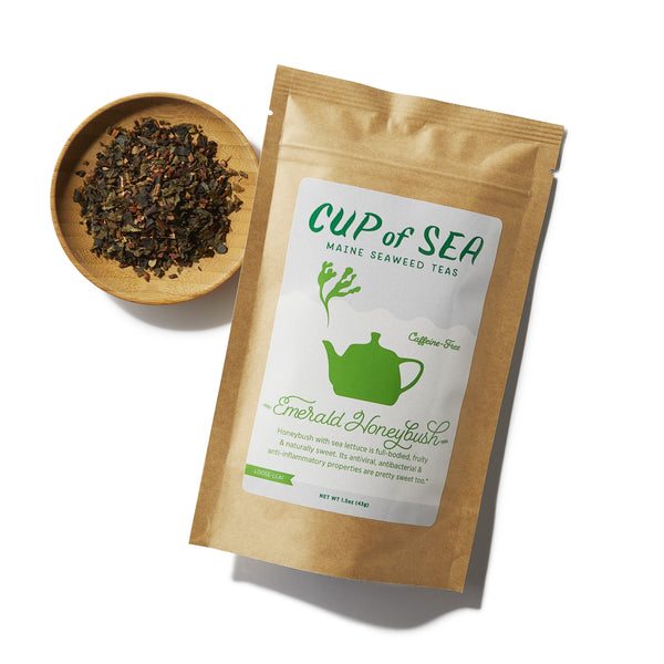 Emerald Honeybush by Cup of Sea - front with loose-leaf
