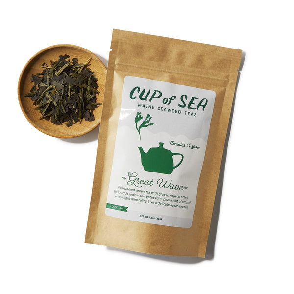 Great Wave by Cup of Sea - front with loose-leaf