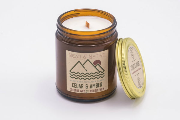 Cedar & Amber Candle by Near & Native