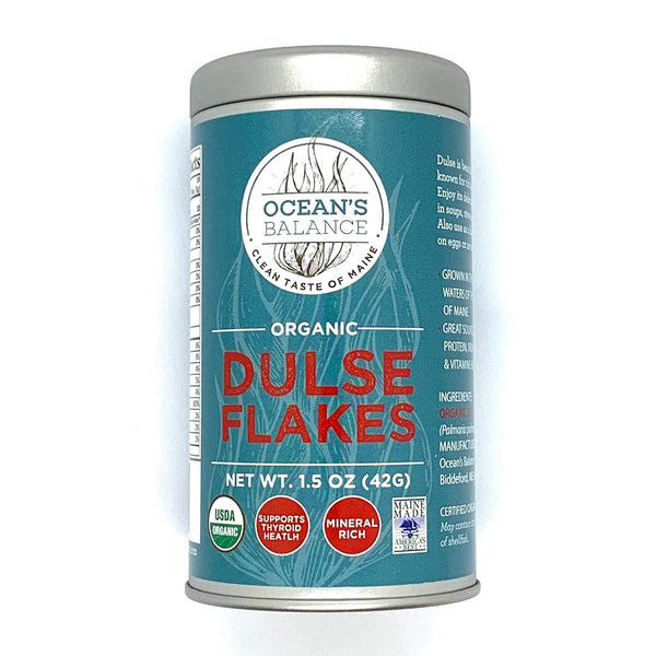 Dulse Flakes · Organic Seaweed Flakes by Ocean's Balance · 1.5oz