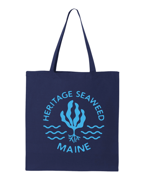 Heritage Seaweed Maine Tote Bag - Navy Blue
