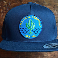 Heritage Seaweed Adjustable Snapback Hat (Navy Blue)