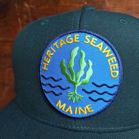 Heritage Seaweed Adjustable Snapback Hat (Hunter Green)