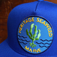 Heritage Seaweed Adjustable Snapback Hat (Royal Blue)