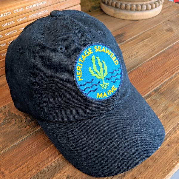 Navy Blue - Heritage Seaweed Adjustable Low-Profile Hat with Round Kelp Patch