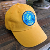 Yellow - Heritage Seaweed Adjustable Low-Profile Hat with Round Kelp Patch