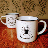 Ceramic Mug (11oz) Cup of Sea with harbor seal / sea otter