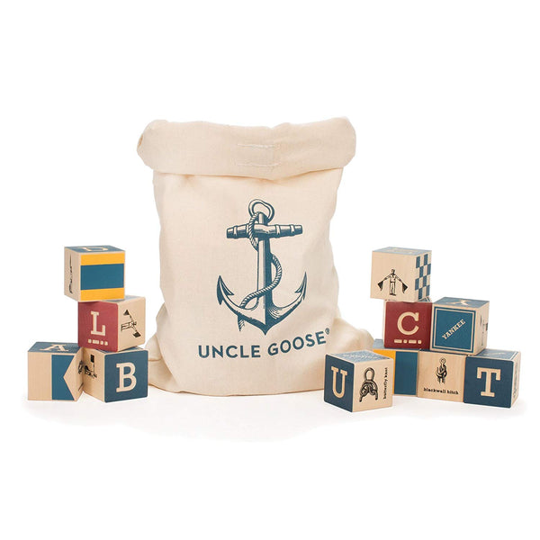 Nautical Sailing wood blocks by Uncle Goose