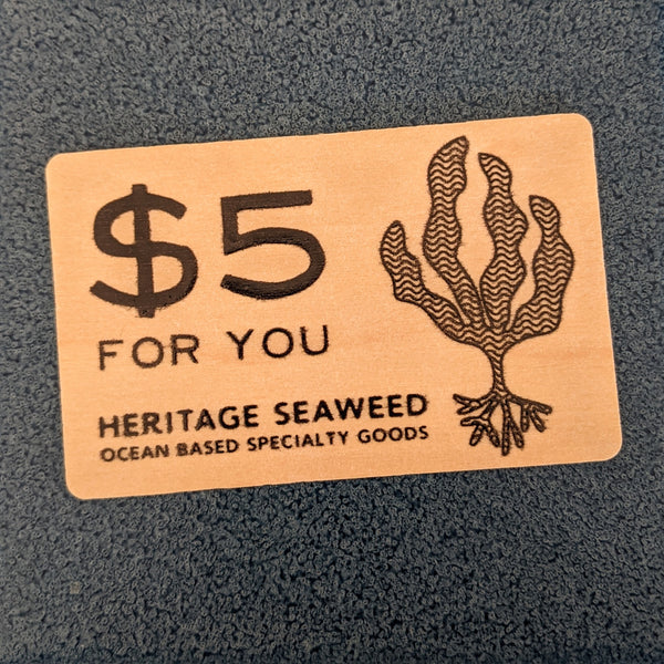 $5 Gift Card for Heritage Seaweed