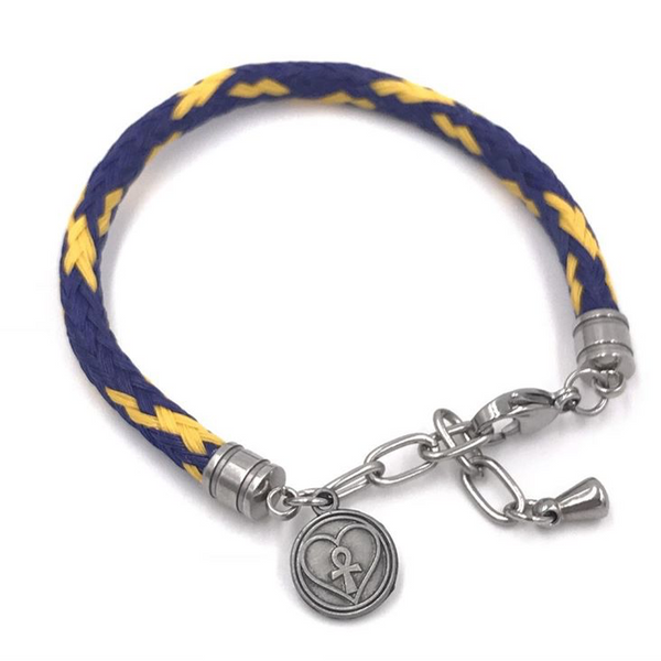 Point Judith Bracelet (Blue with Yellow Tracers)