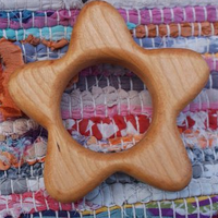 Wood Star Teether