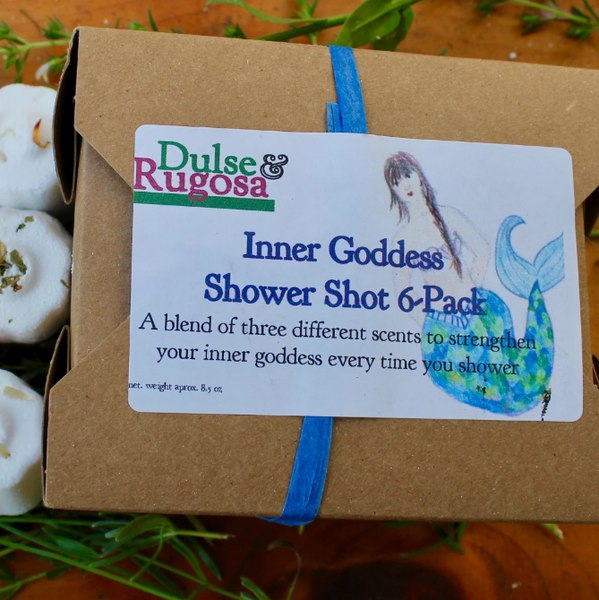Inner Goddess Gift Box · 6 Aromatherapy Showers Shots · Dulse & Rugosa