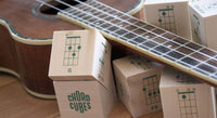 Ukulele Chord Cubes - Wood Blocks