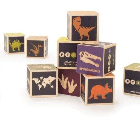Dinosaurs wood blocks by Uncle Goose