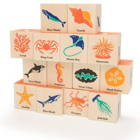 Ocean Life - Wood Blocks