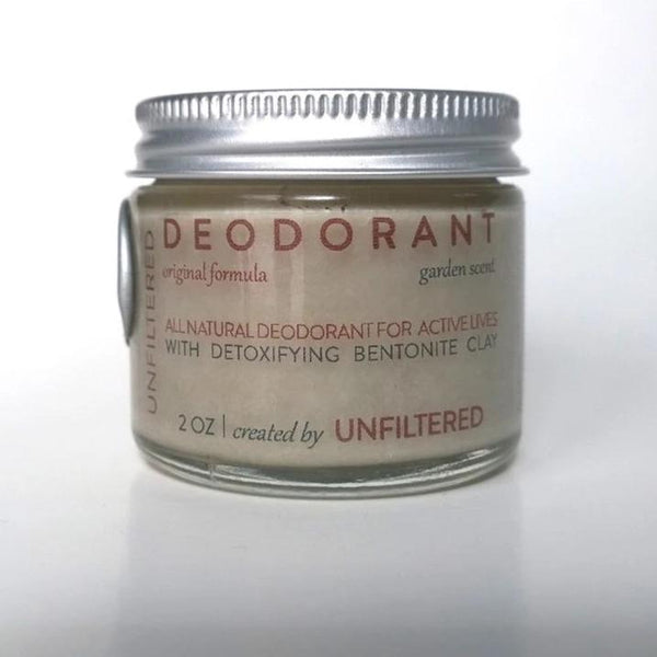Natural Deodorant with Bentonite Clay by Unfiltered Skincare